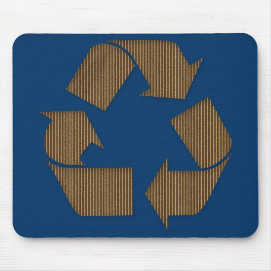 Cardboard Recycle Symbol Mousepad
