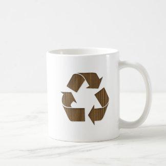 Cardboard Recycle Symbol  Mug