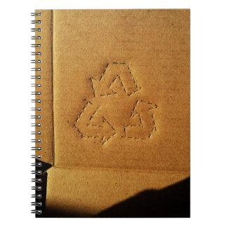Cardboard recycling book