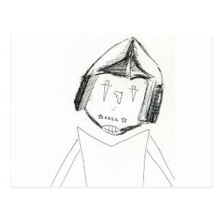 Cardboard Samurai.jpg Postcard