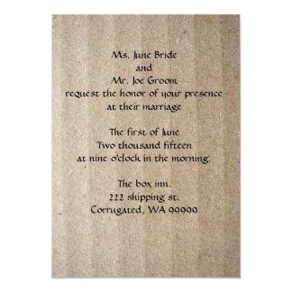 Cardboard Wedding Invitation