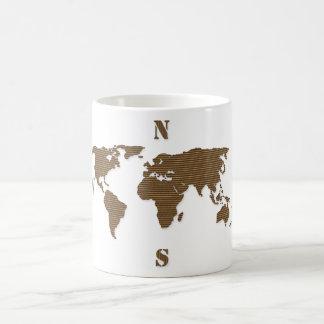 Cardboard World Map Mug