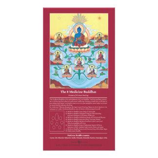 CARDE 8 la medicina Buddhas - con la explicación Tarjeta Fotografica