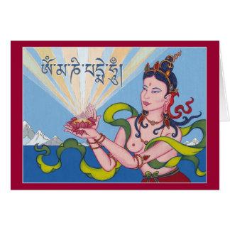 CARDE a la diosa de ofrecimiento (Dakini) - con la Tarjeta De Felicitación
