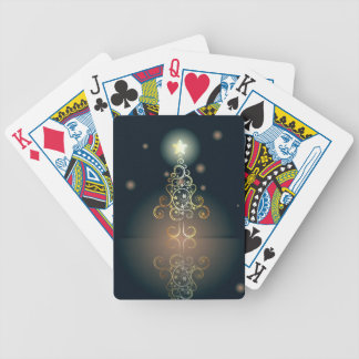 Carde con el árbol de navidad decorativo 3 cartas de juego