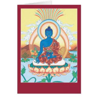 CARDE la medicina Buda - con la explicación y el m Tarjeta De Felicitación