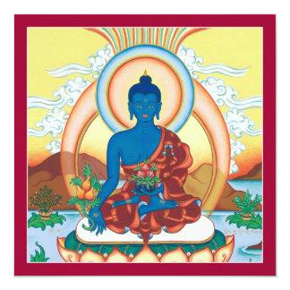 """CARDE la medicina Buda - tarjeta cuadrada con el Invitación 5.25"""" X 5.25"""""""