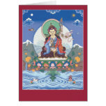 CARDE Padmasambhava/a Guru Rinpoche - con mantra Tarjetas