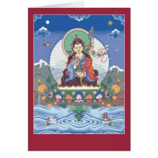 CARDE Padmasambhava/a Guru Rinpoche - con mantra Tarjeta De Felicitación