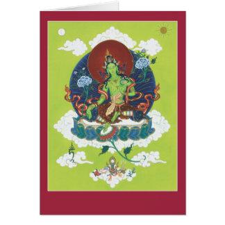 CARDE Tara verde - con la explicación y el mantra Felicitacion