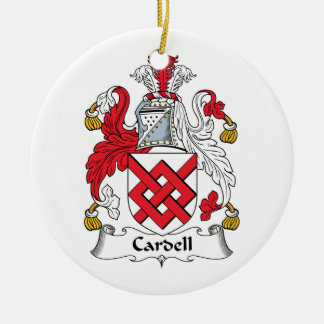 Cardell Family Crest Ceramic Ornament