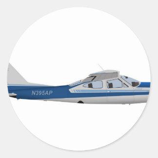 Cardenal 395395 de Cessna 177RG Etiqueta Redonda