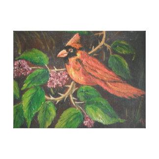 Cardenal de pintura de Ana Hayes de la impresión d Lona Estirada Galerías