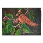 Cardenal de pintura de Ana Hayes de la tarjeta de