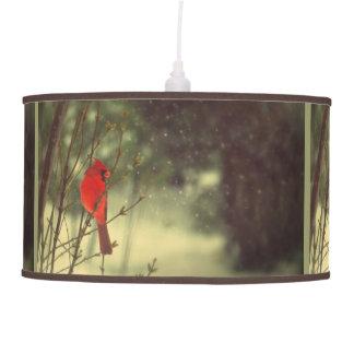 Cardenal de sexo masculino hermoso lámpara de techo
