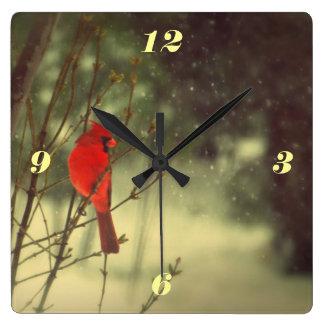 Cardenal de sexo masculino reloj