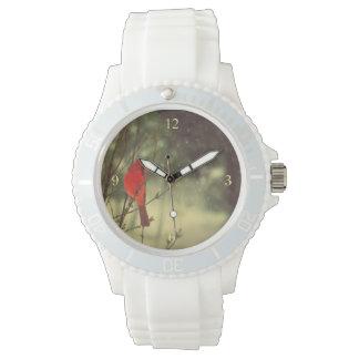 Cardenal de sexo masculino relojes