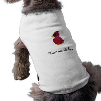 Cardenal del brillo playera sin mangas para perro