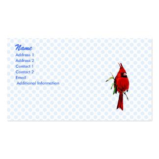 Cardenal del cardán tarjetas de visita