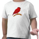 Cardenal del carmín camiseta