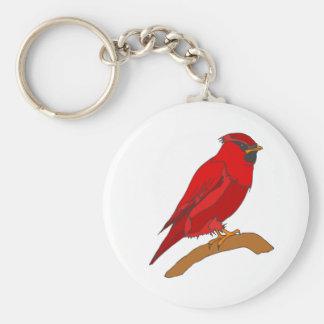 Cardenal del carmín llavero redondo tipo pin