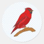 Cardenal del carmín pegatinas redondas