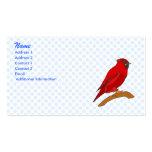 Cardenal del carmín tarjetas de visita