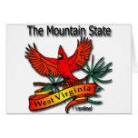 Cardenal del estado de la montaña de Virginia Occi Tarjetas