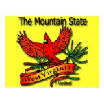 Cardenal del estado de la montaña de Virginia Occi Tarjetas Postales