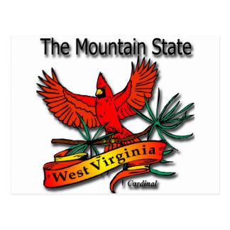 Cardenal del estado de la montaña de Virginia Tarjeta Postal