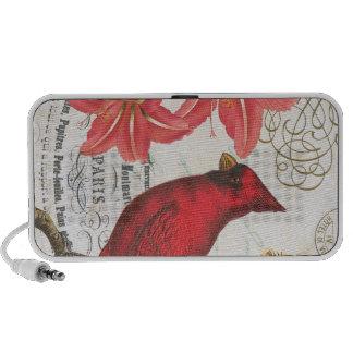 cardenal del invierno del vintage portátil altavoz