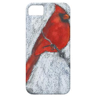 Cardenal en la nieve iPhone 5 cárcasas