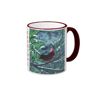 Cardenal en taza del Oleander