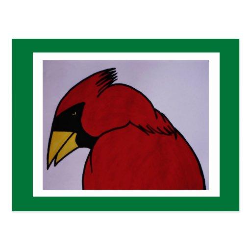 Cardenal en tinta tarjeta postal