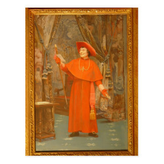 Cardenal, leyendo una letra de Jean Jorte Vibert Tarjeta Postal