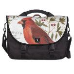cardenal moderno del invierno del vintage bolsas para portatil