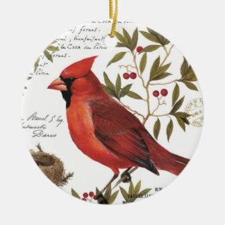 cardenal moderno del invierno del vintage ornamentos de reyes magos