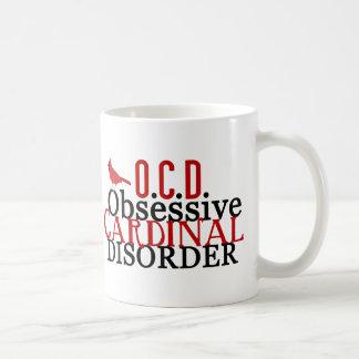 Cardenal obsesionado taza de café