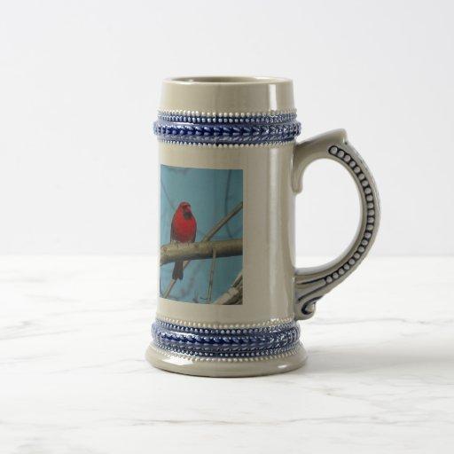 Cardenal/pájaro rojos tazas de café