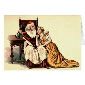 Cardenal Richelieu y Julia 1894 Tarjeta De Felicitación