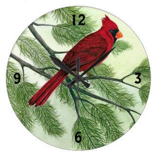 Cardenal rojo brillante - reloj