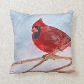 Cardenal rojo almohadas