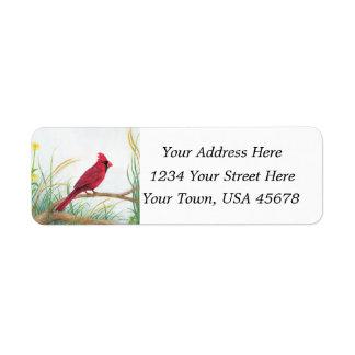 Cardenal rojo - etiquetas de dirección
