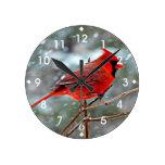 Cardenal rojo relojes de pared