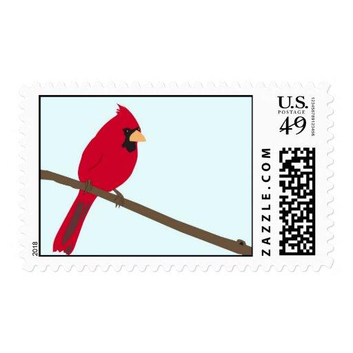 Cardenal rojo sello