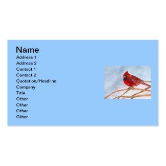 Cardenal rojo tarjetas de visita