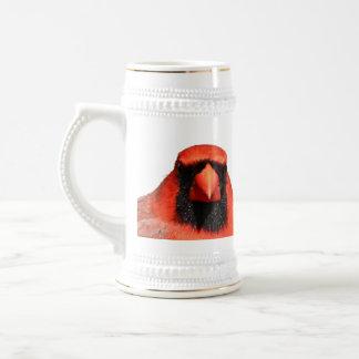 Cardenal septentrional jarra de cerveza