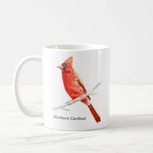 Cardenal septentrional taza