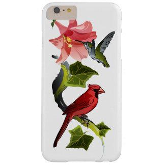 Cardenal y colibrí con el lirio y la hiedra funda para iPhone 6 plus barely there