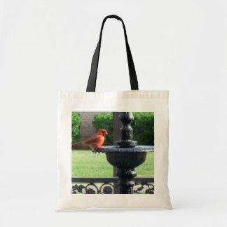 Cardenal y fuente bolsas lienzo